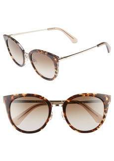 kate spade new york jazzlyn 51mm Cat Eye Sunglasses