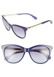 kate spade new york jizelle 55mm Gradient Lenses Cat Eye Sunglasses