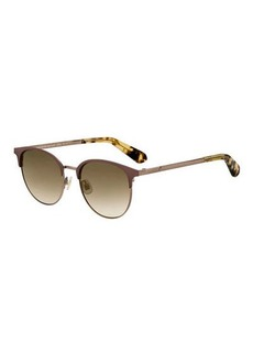 kate spade new york joelynns round stainless steel sunglasses