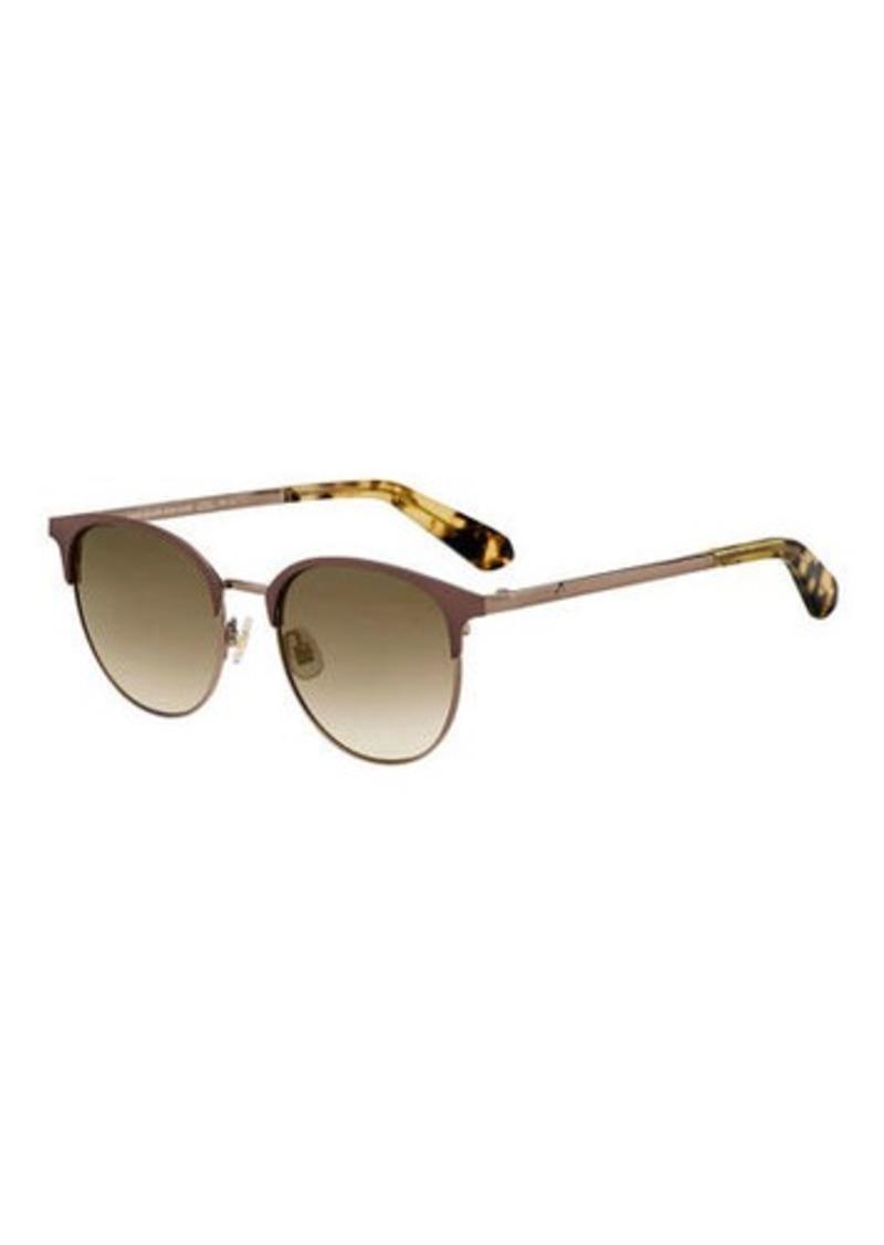 kate spade new york joelynns round stainless steel sunglasses