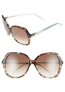 kate spade new york 'jonell' 58mm oversized sunglasses