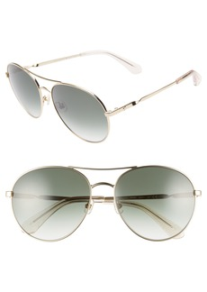 kate spade new york joshelle 60mm aviator sunglasses