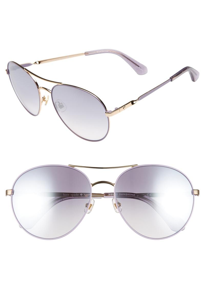 dd97ceb5e48 Kate Spade kate spade new york joshelle 60mm aviator sunglasses ...