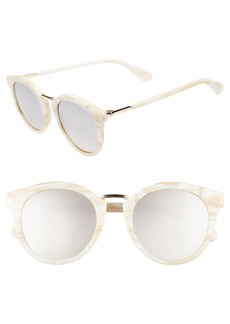 kate spade new york joylyn 50mm round sunglasses