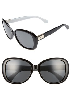 kate spade new york judyann 56mm polarized sunglasses
