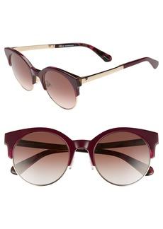 kate spade new york kaileen 52mm semi-rimless cat eye sunglasses
