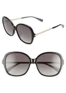 kate spade new york kaiya 57mm round sunglasses
