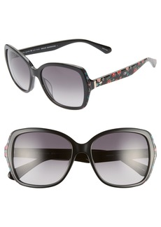 kate spade new york karalyns 56mm gradient butterfly sunglasses