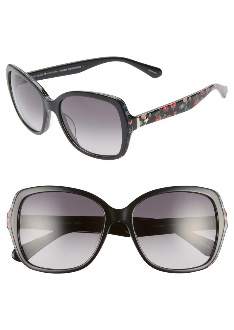 kate spade new york karalyns 56mm gradient butterfly sunglasses