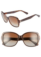 kate spade new york karalyns 56mm polarized sunglasses