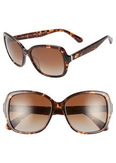 kate spade new york karalyns 56mm polarized sunglasses