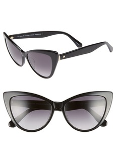 kate spade new york karina 56mm cat eye sunglasses