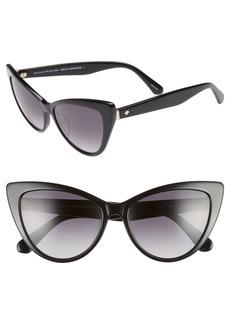 kate spade new york karina 56mm cat eye sunglasses