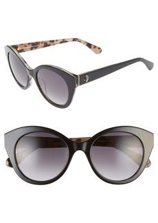 kate spade new york karleigh 51mm cat eye sunglasses