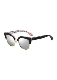 karris square semi-rimless sunglasses
