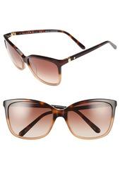 kate spade new york kasie 55mm cat eye sunglasses