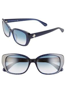 kate spade new york kenzie 53mm oval sunglasses