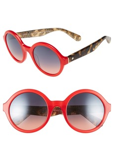 kate spade new york 'khriss' 52mm round sunglasses
