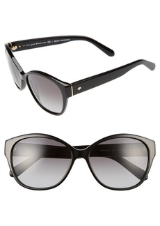 kate spade new york 'kiersten' 56mm cat eye sunglasses