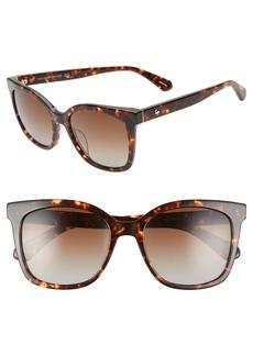 kate spade new york kiyas 53mm polarized cat eye sunglasses