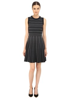 Kate Spade New York Knit Stripe Fit and Flare Dress