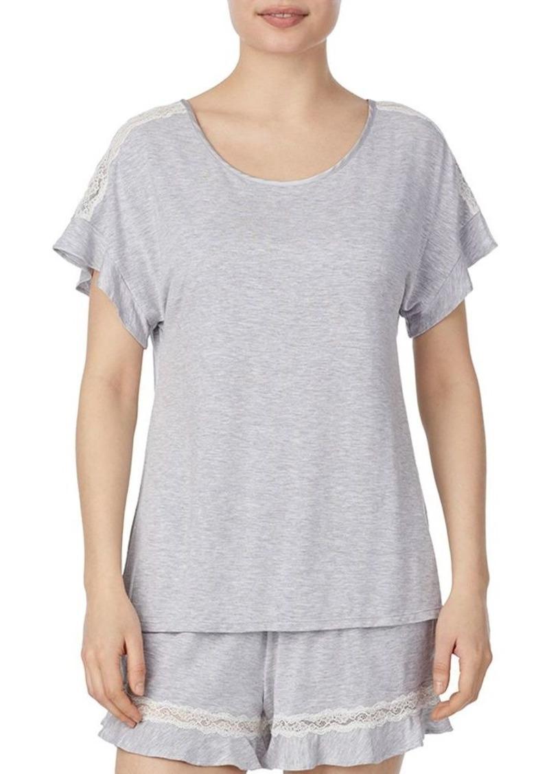 kate spade new york Lace-Inset Pajama Set