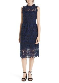 kate spade new york lace midi dress