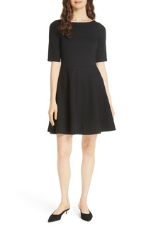 kate spade new york lace-up ponte dress