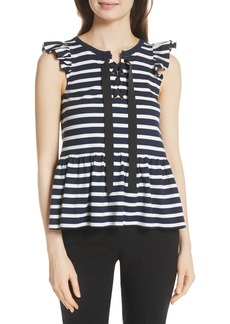 kate spade new york lace-up stripe tee