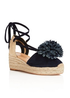 kate spade new york Lafayette Pom-Pom Lace Up Platform Wedge Sandals