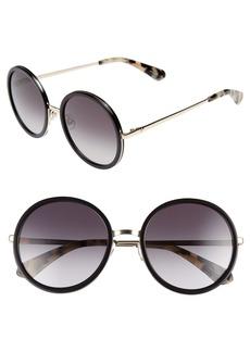 kate spade new york lamonica 54mm gradient lens round sunglasses