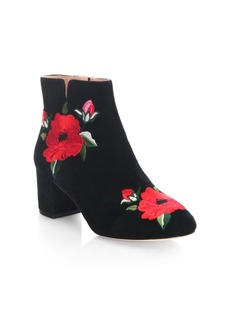 Kate Spade New York Langton Embroidered Leather Booties