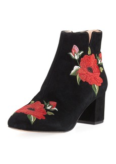 Kate Spade langton embroidered suede bootie