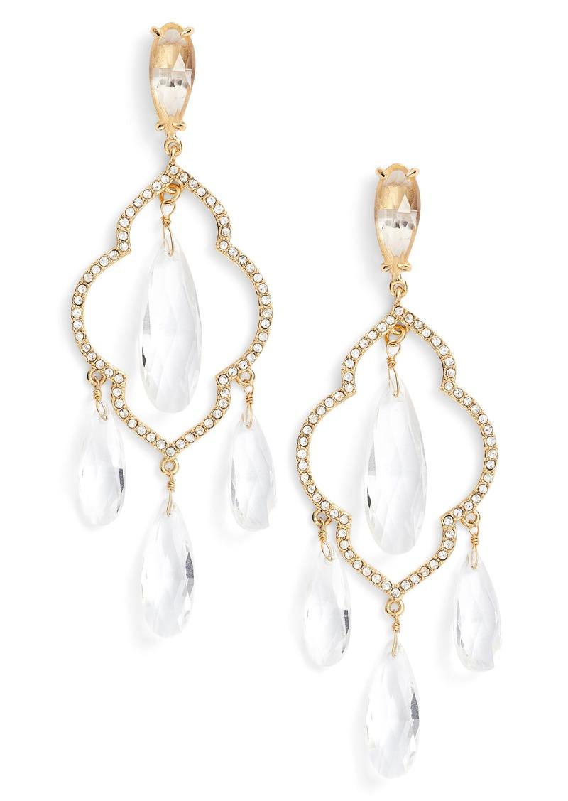Kate Spade kate spade new york lantern gems chandelier earrings ...