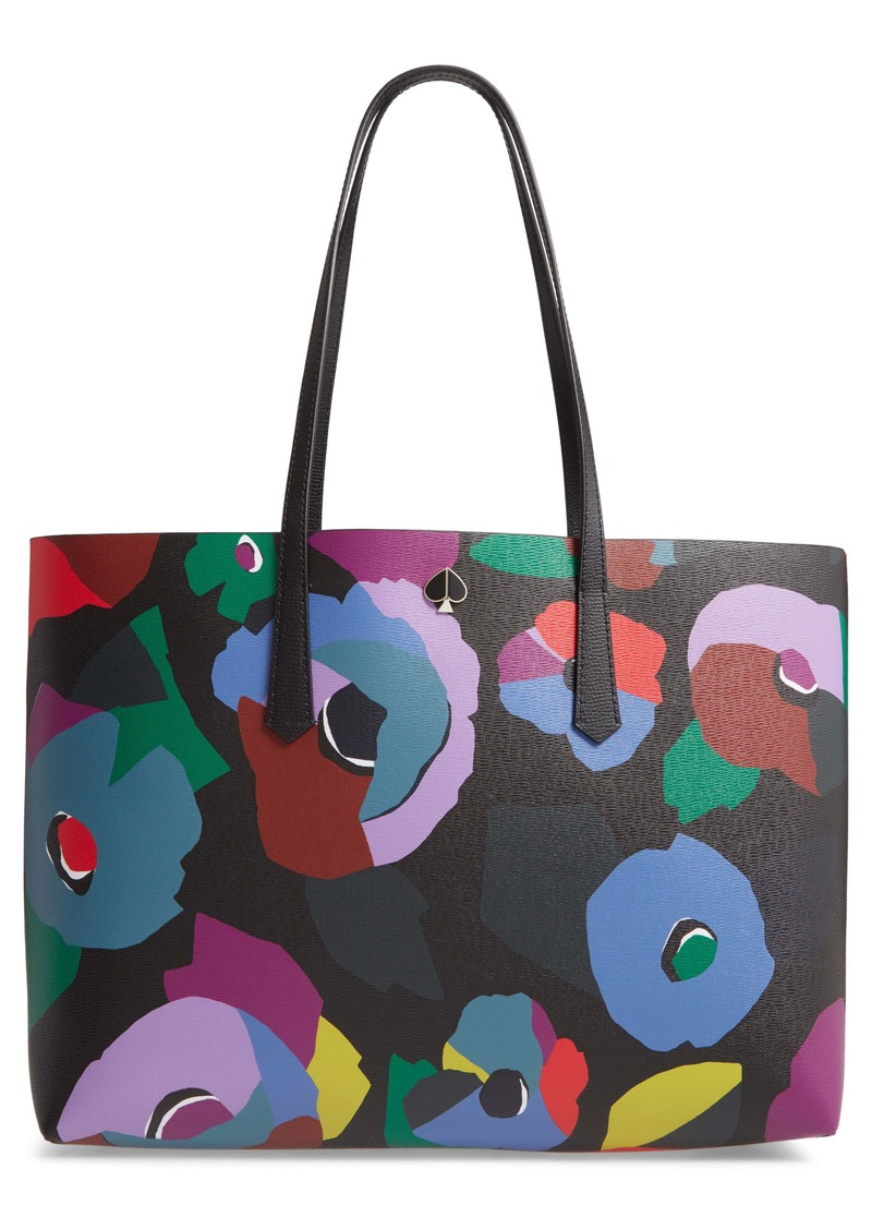 kate spade new york large molly floral collage leather tote