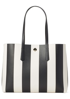 kate spade new york large molly stripe faux leather tote