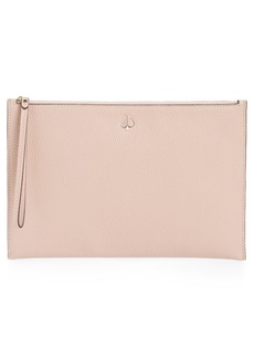 kate spade new york large polly leather wristlet