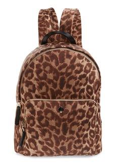 kate spade new york large taylor leopard nylon backpack