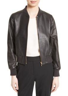 kate spade new york leather bomber jacket