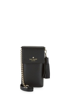 outlet store 1747b 27b5f New York Leather Crossbody Phone Pouch