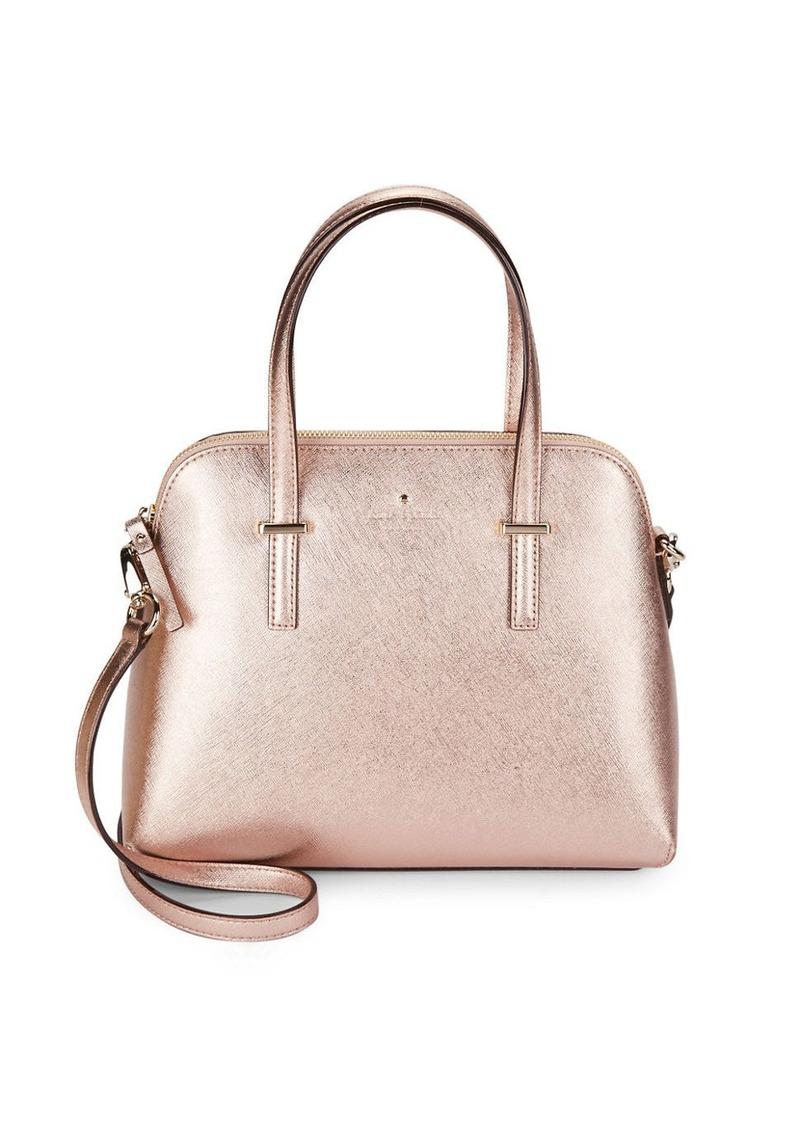 KATE SPADE NEW YORK Leather Dome Satchel Handbag