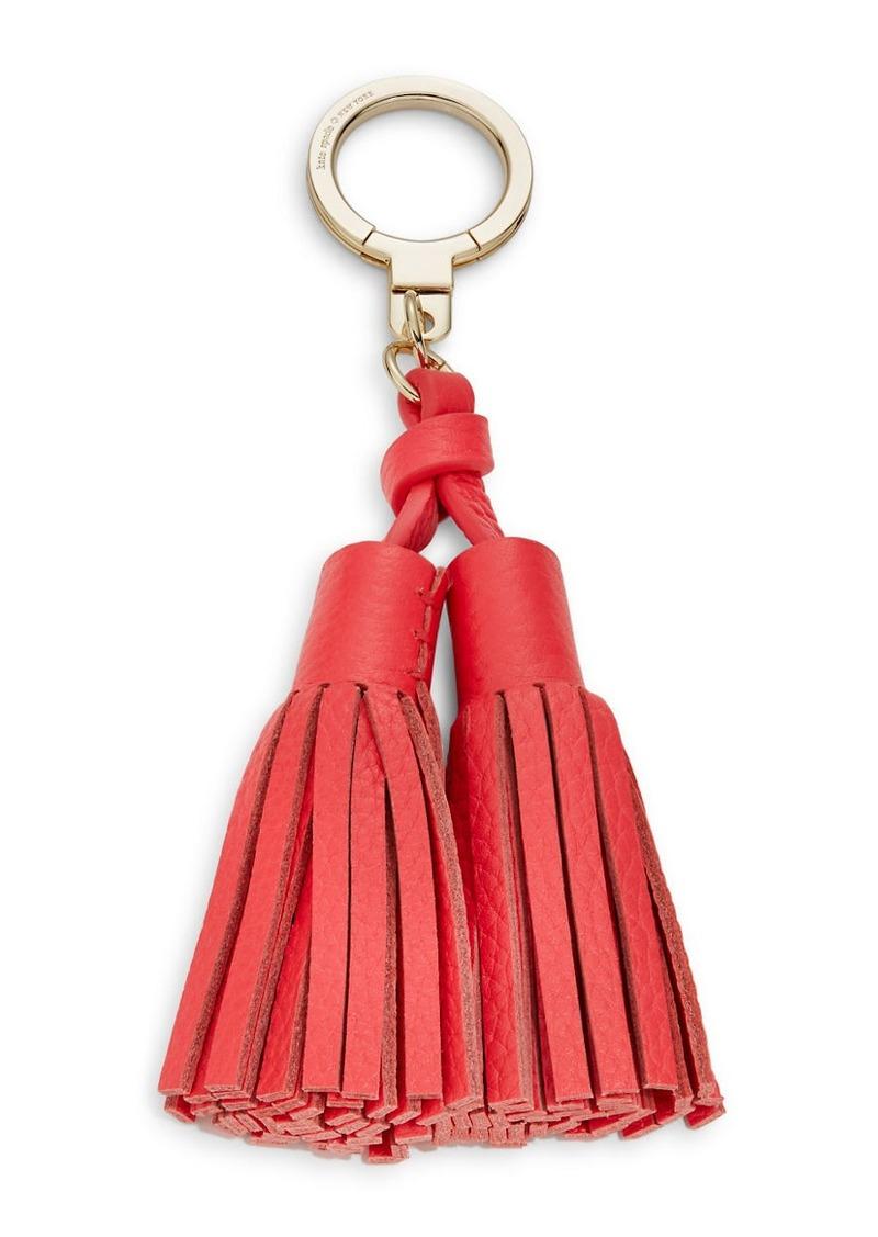 KATE SPADE NEW YORK Leather Double Tassel Keychain