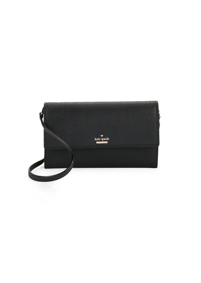 KATE SPADE NEW YORK Leather Flap Wallet