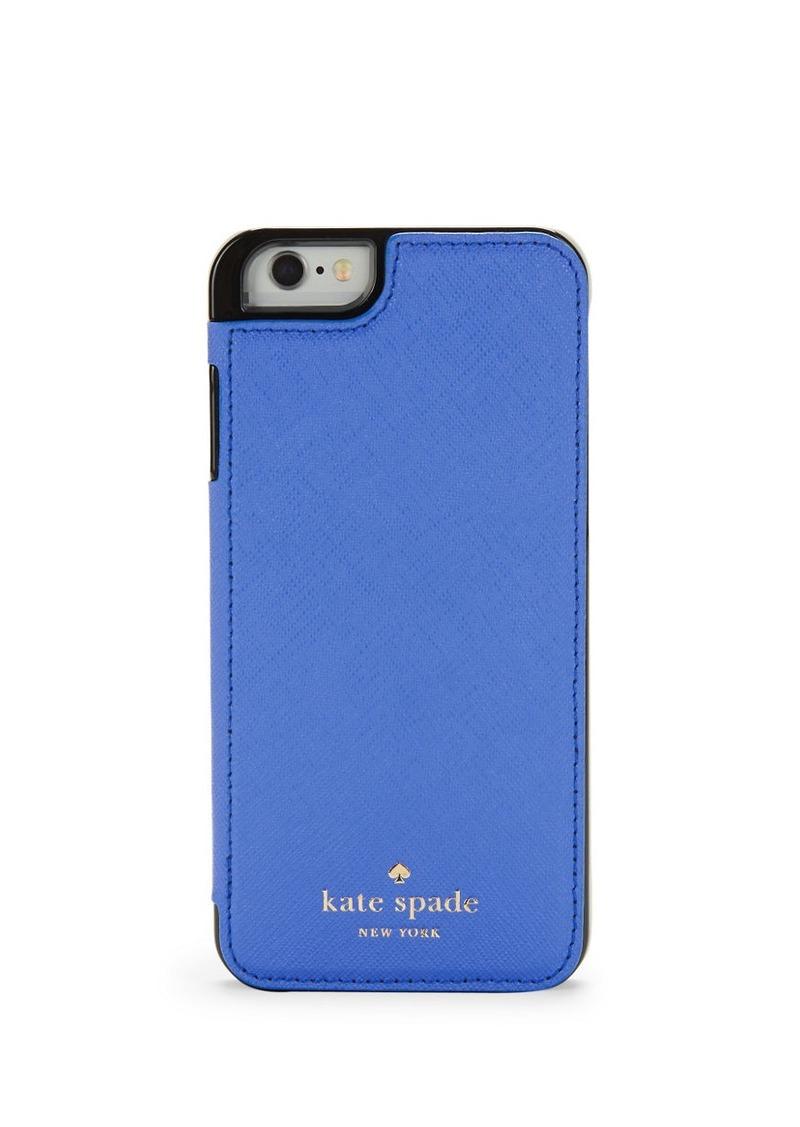 KATE SPADE NEW YORK Leather Folio iPhone 6 Case