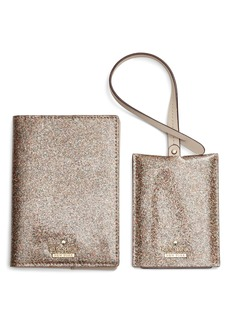 kate spade new york leather passport case & luggage tag set (Nordstrom Exclusive)