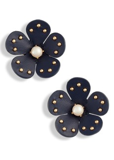kate spade new york leather stud earrings