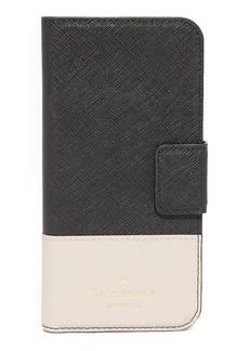 Kate Spade New York Leather Wrap Folio iPhone 7 Case