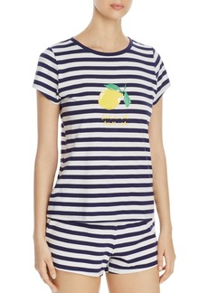 kate spade new york Lemon Stripe Short PJ Set