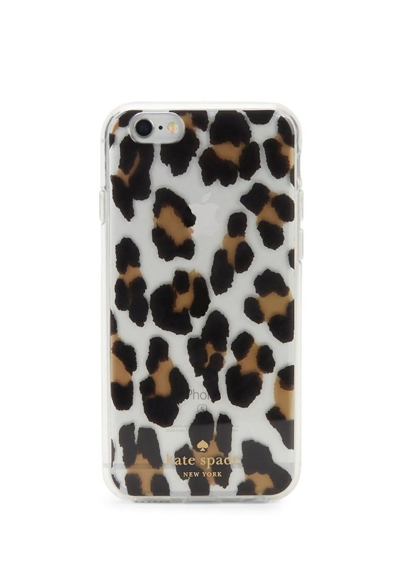 KATE SPADE NEW YORK Leopard Hardshell iPhone 6 Case