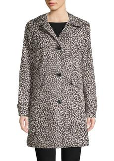 Kate Spade New York Leopard-Print Trench Coat